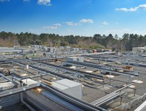 Rooftop Piping for Chilled Water System at Alachua County Jail