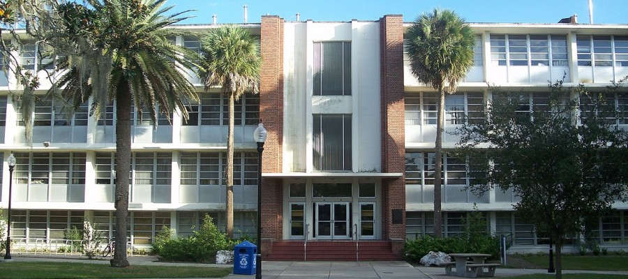 Front Elevation of McCarty Hall at University of Florida