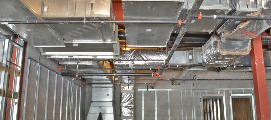 Climate Control Fabricated Duct Work for Pearson Nissan Car Dealership